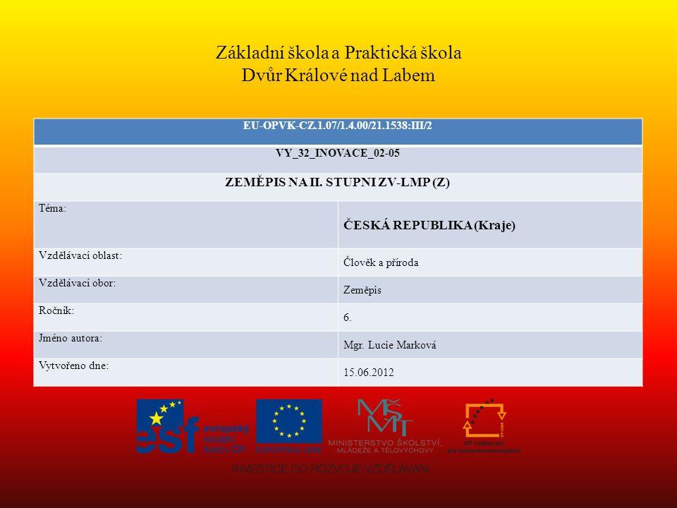 ČESKÁ REPUBLIKA - kraje 14.