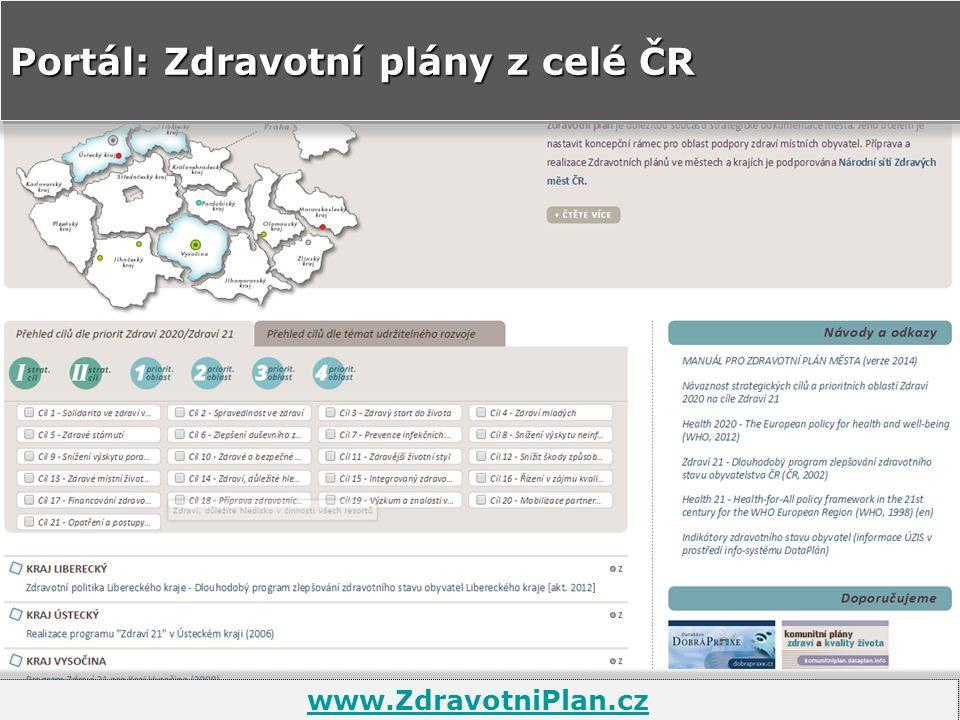 Portál: Zdravotní plány z celé ČR www.ZdravotniPlan.cz