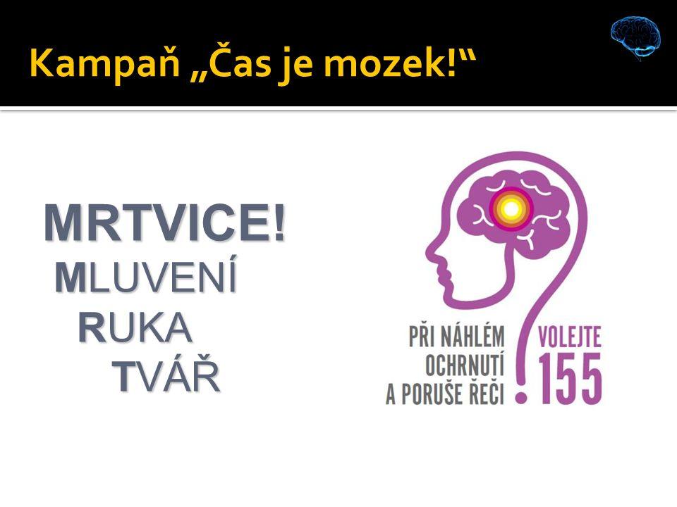 """Kampaň """"Čas je mozek! MRTVICE! MLUVENÍ MLUVENÍ RUKA RUKA TVÁŘ TVÁŘ"""