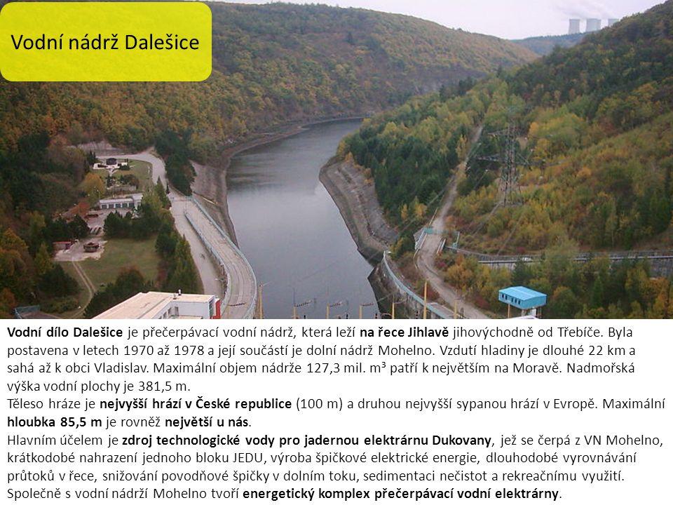 Vodní dílo Dalešice je přečerpávací vodní nádrž, která leží na řece Jihlavě jihovýchodně od Třebíče.