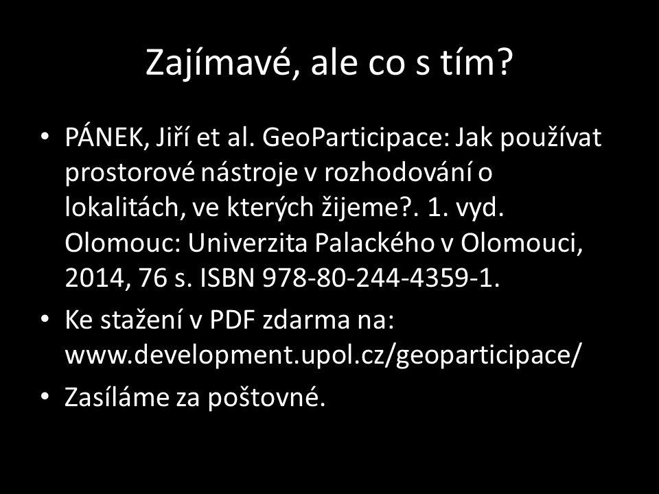 Zajímavé, ale co s tím.PÁNEK, Jiří et al.