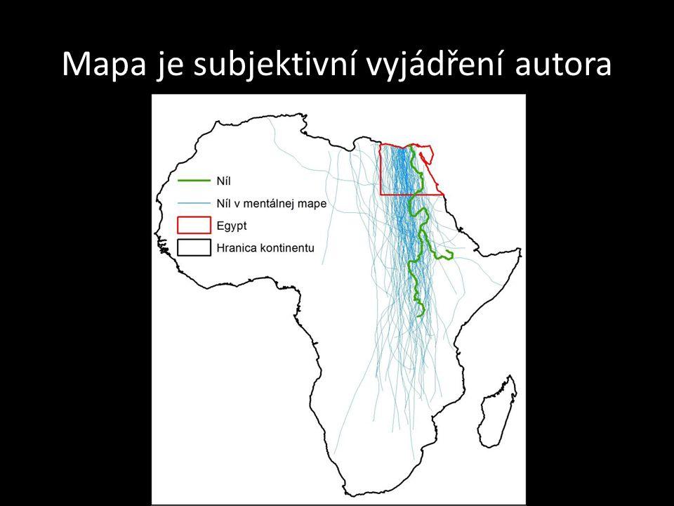 Mapa je subjektivní vyjádření autora
