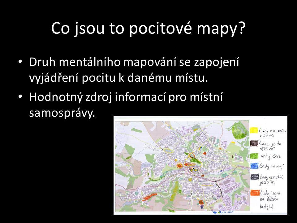Co jsou to pocitové mapy.Druh mentálního mapování se zapojení vyjádření pocitu k danému místu.