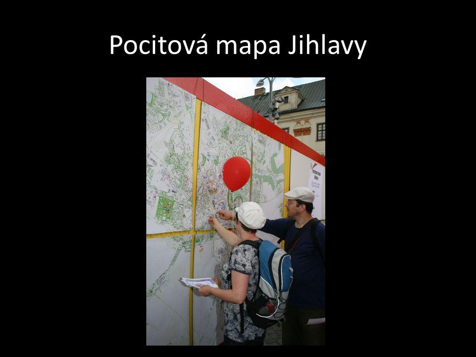 Pocitová mapa Jihlavy