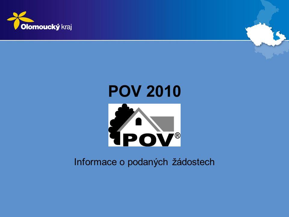 POV 2010 Informace o podaných žádostech