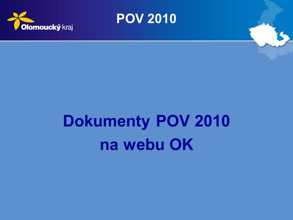 POV 2010 Dokumenty POV 2010 na webu OK