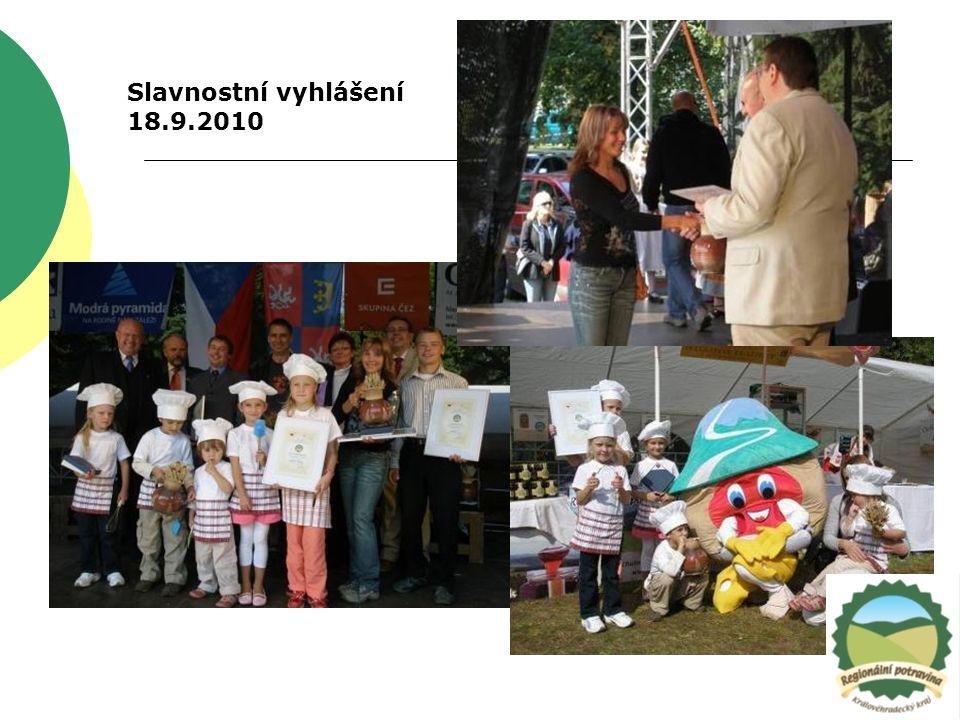Slavnostní vyhlášení 18.9.2010