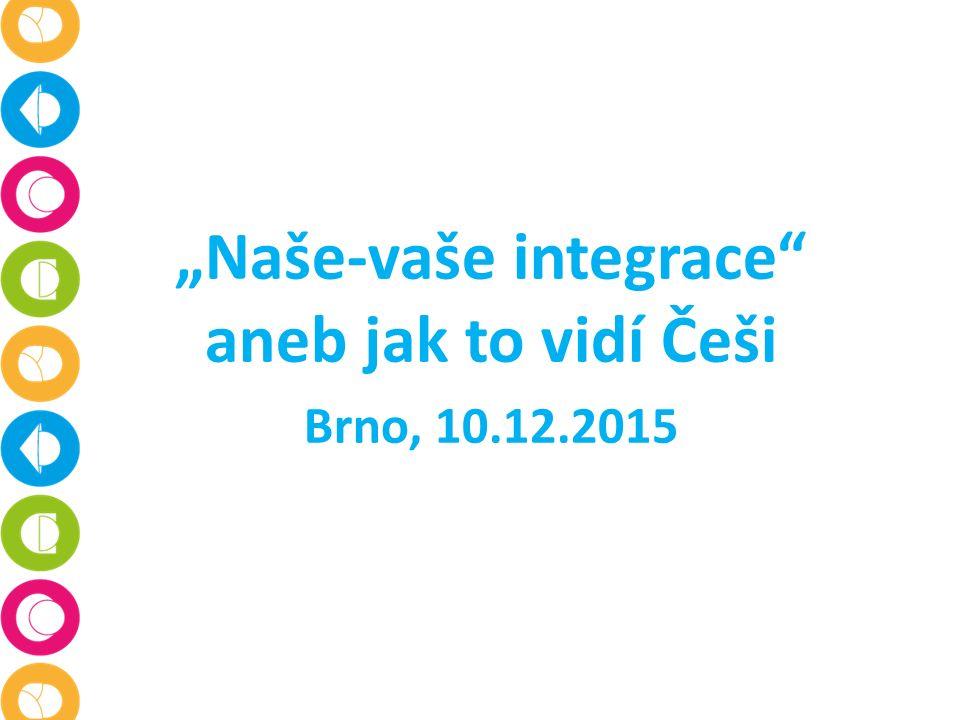 """""""Naše-vaše integrace aneb jak to vidí Češi Brno, 10.12.2015"""
