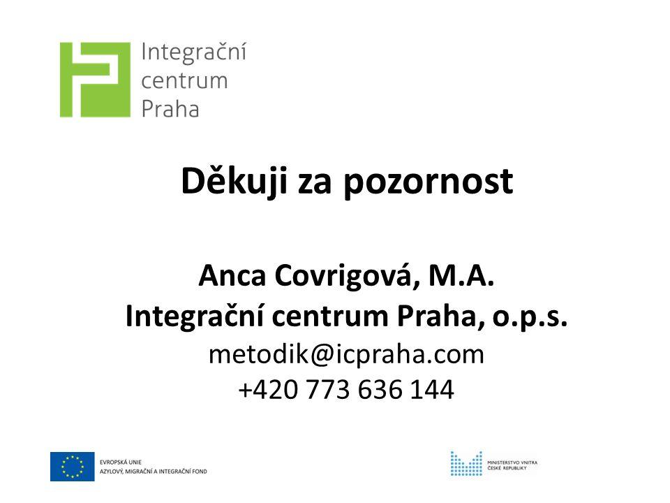 Děkuji za pozornost Anca Covrigová, M.A. Integrační centrum Praha, o.p.s.
