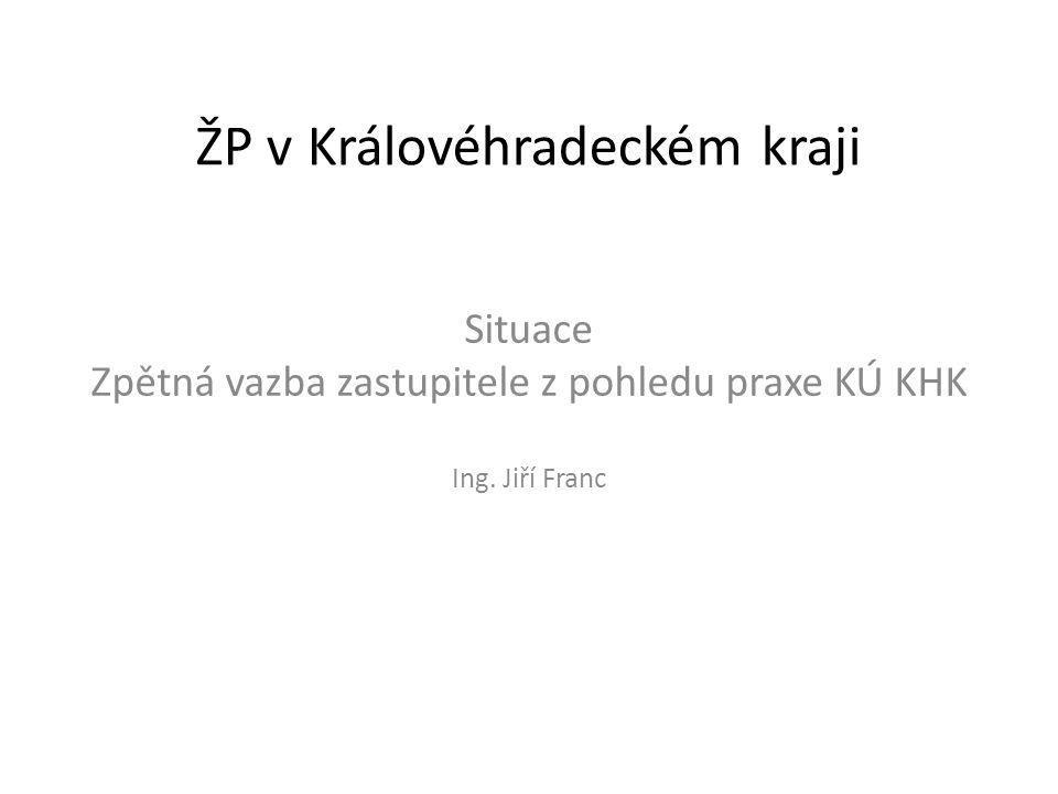 ŽP v Královéhradeckém kraji Situace Zpětná vazba zastupitele z pohledu praxe KÚ KHK Ing. Jiří Franc