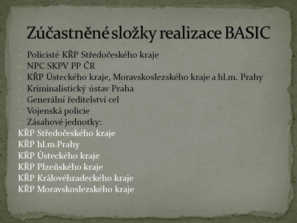 - Policisté KŘP Středočeského kraje - NPC SKPV PP ČR - KŘP Ústeckého kraje, Moravskoslezského kraje a hl.m.