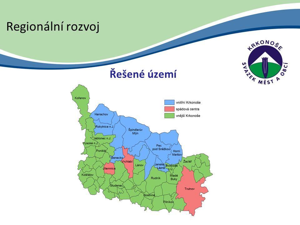 Řešené území Regionální rozvoj