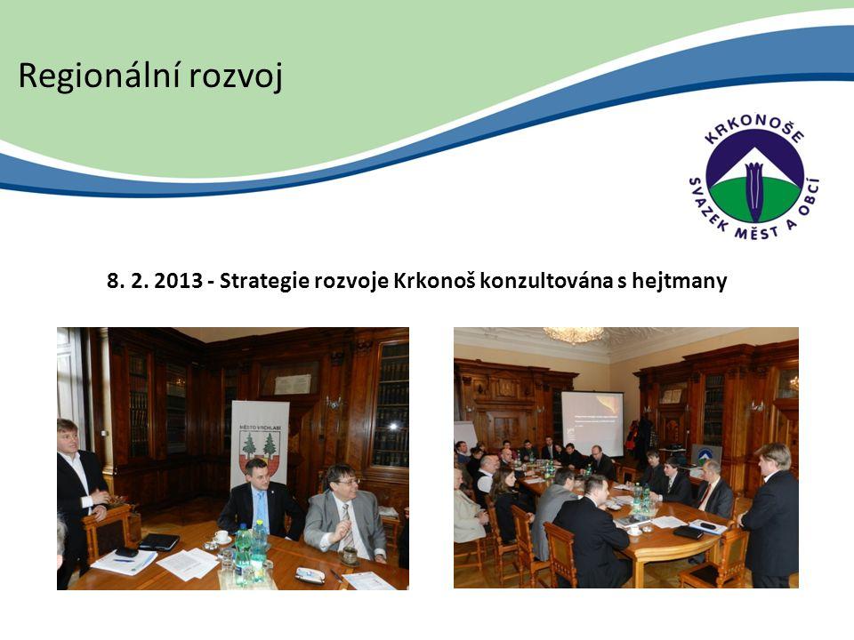 8. 2. 2013 - Strategie rozvoje Krkonoš konzultována s hejtmany Regionální rozvoj