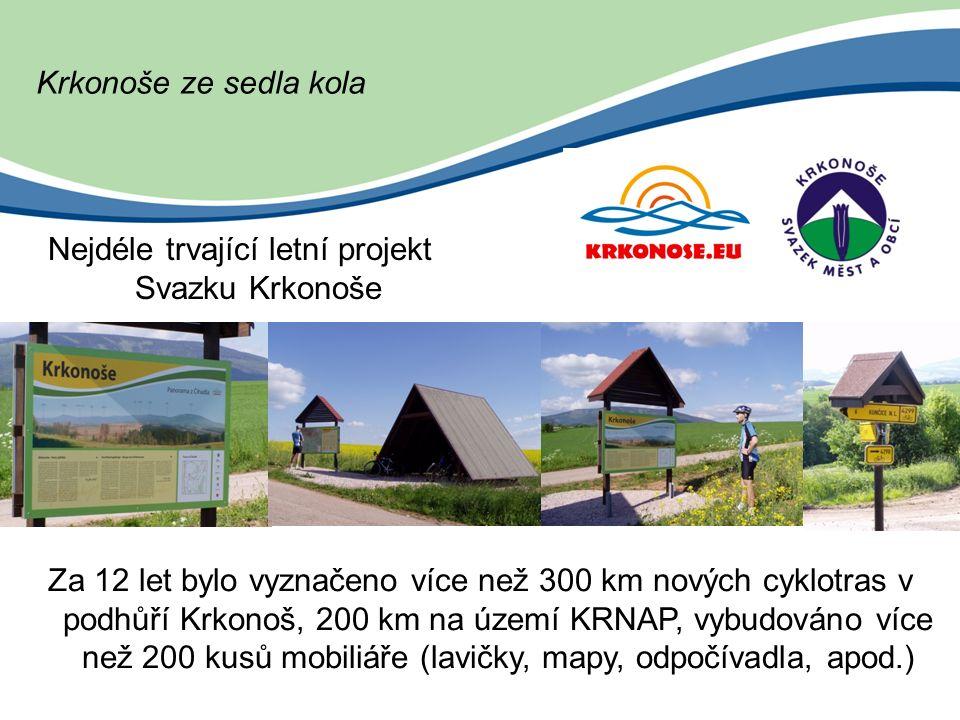 Krkonošské cyklobusy 2013 V roce 2012 přepraveno 30 985 osob a 3 826 kol Financuje: Královéhradecký kraj Liberecký kraj Krkonoše – svazek měst a obcí Rok 2013 – 10.