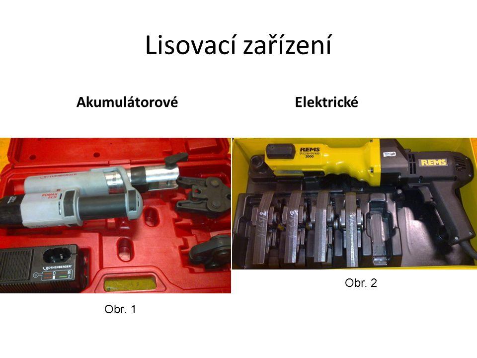 Lisovací zařízení AkumulátorovéElektrické Obr. 1 Obr. 2