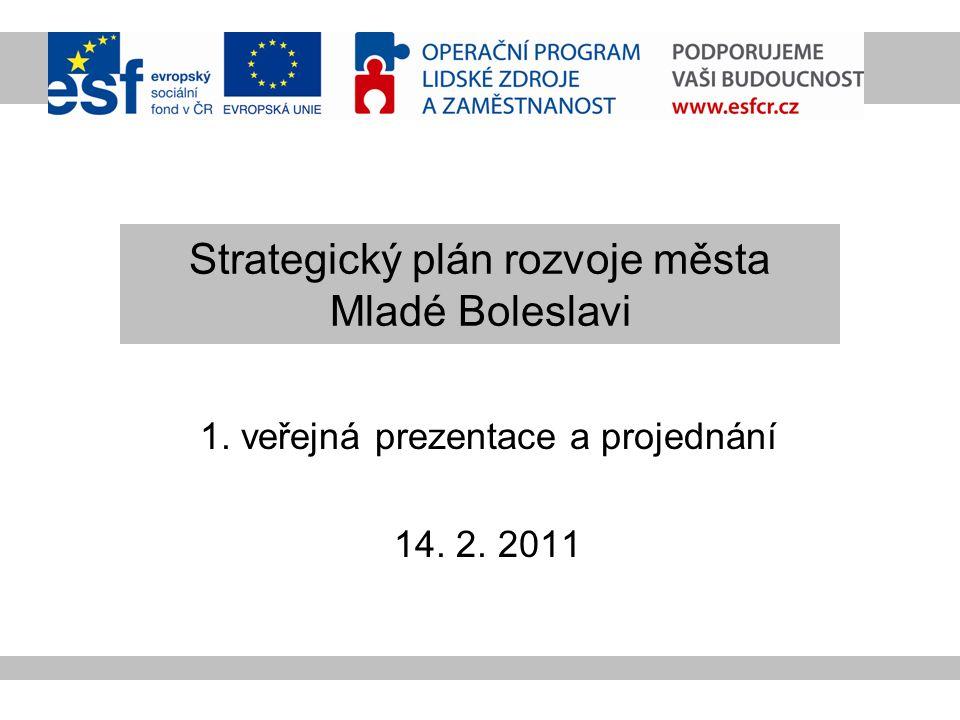 Strategický plán rozvoje města Mladé Boleslavi 1. veřejná prezentace a projednání 14. 2. 2011