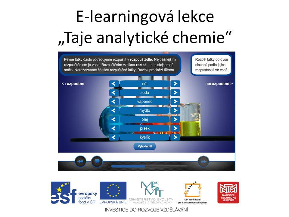 """E-learningová lekce """"Taje analytické chemie"""