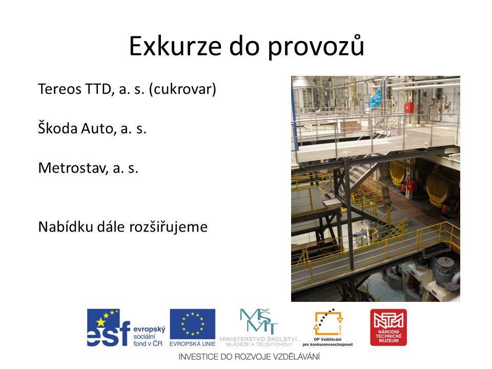 Exkurze do provozů Tereos TTD, a. s. (cukrovar) Škoda Auto, a.