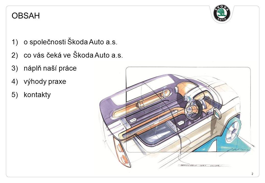 OBSAH 1)o společnosti Škoda Auto a.s. 2)co vás čeká ve Škoda Auto a.s.