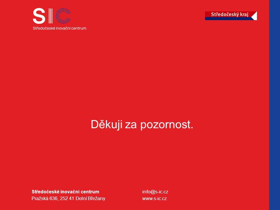 Středočeské inovační centrum Pražská 636, 252 41 Dolní Břežany info@s-ic.cz www.s-ic.cz Děkuji za pozornost.
