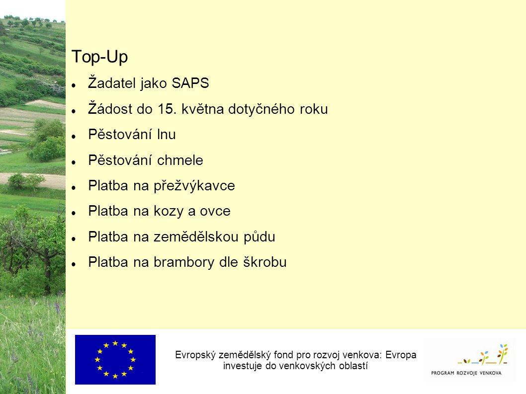 Top-Up Žadatel jako SAPS Žádost do 15.