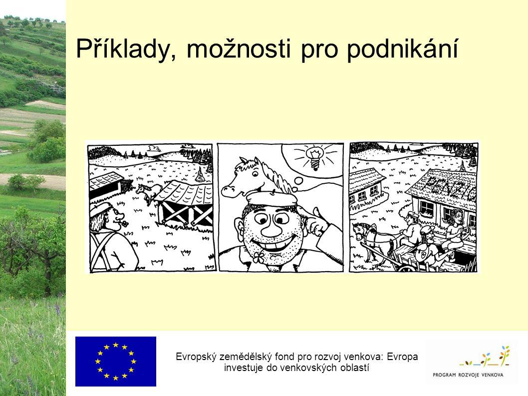 Příklady, možnosti pro podnikání Evropský zemědělský fond pro rozvoj venkova: Evropa investuje do venkovských oblastí