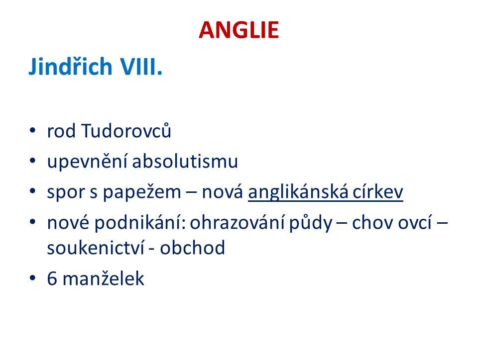 ANGLIE Jindřich VIII.