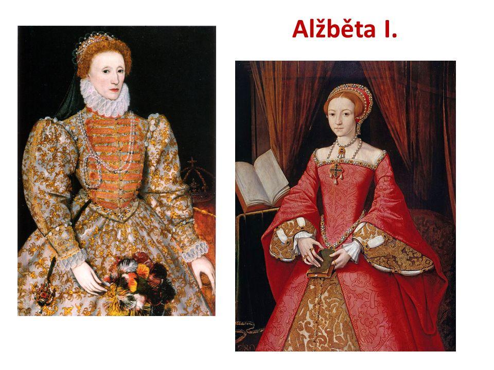 ANGLIE Alžběta I.dcera Jindřicha VIII.