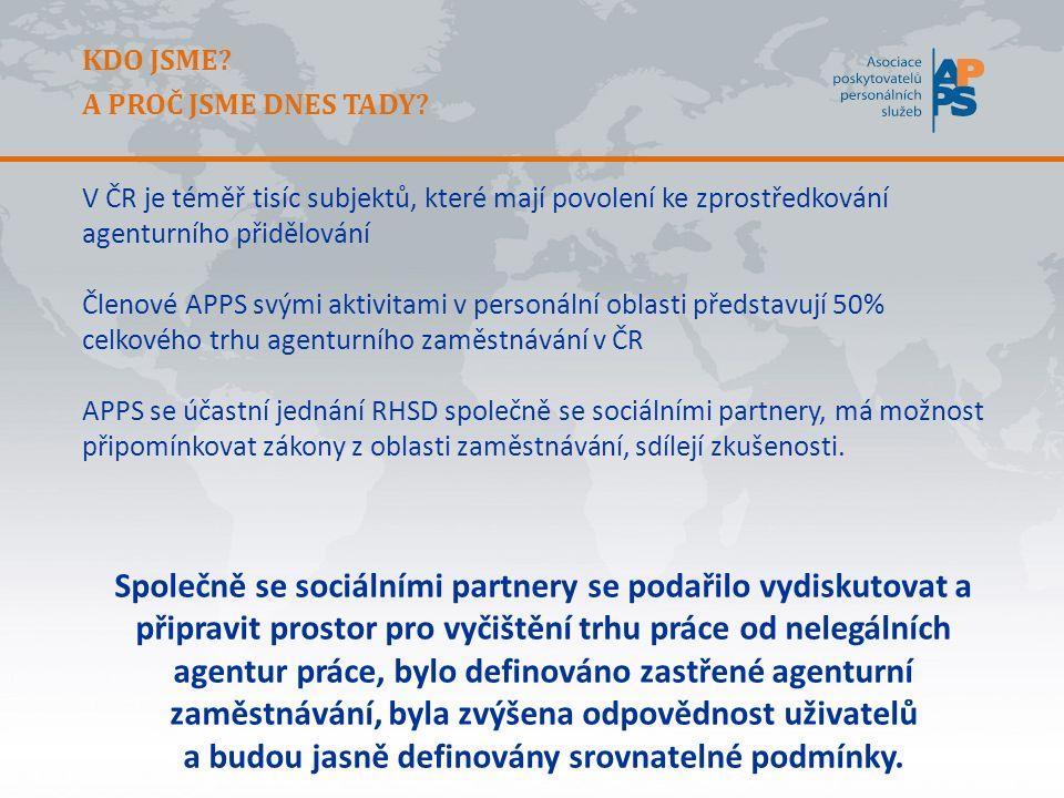 O APPS APPS tak získává aktuální informace, data a statistiky z evropského a světového trhu agenturního zaměstnávání, má možnost srovnání se zeměmi EU, lokálními trhy práce i legislativou.