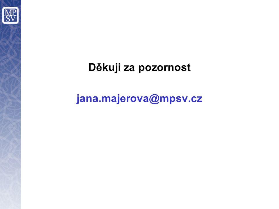 Děkuji za pozornost jana.majerova@mpsv.cz