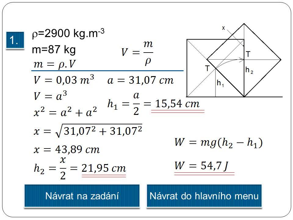  =2900 kg.m -3 m=87 kg