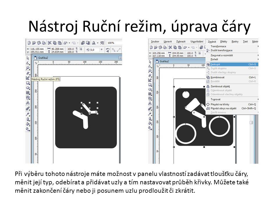 Výběr tvarů Pokud máte všechny části obrázku klepněte na nástroj výběr a editace a tažením myši tvary označte Výběr tvarů můžete označit jednotlivě se stisknutou klávesou Shift Spojte tvary dohromady použitím nabídky ZMĚNIT>SESKUPIT Nyní můžete výsledný objekt kopírovat, zvětšovat i zmenšovat beze změn