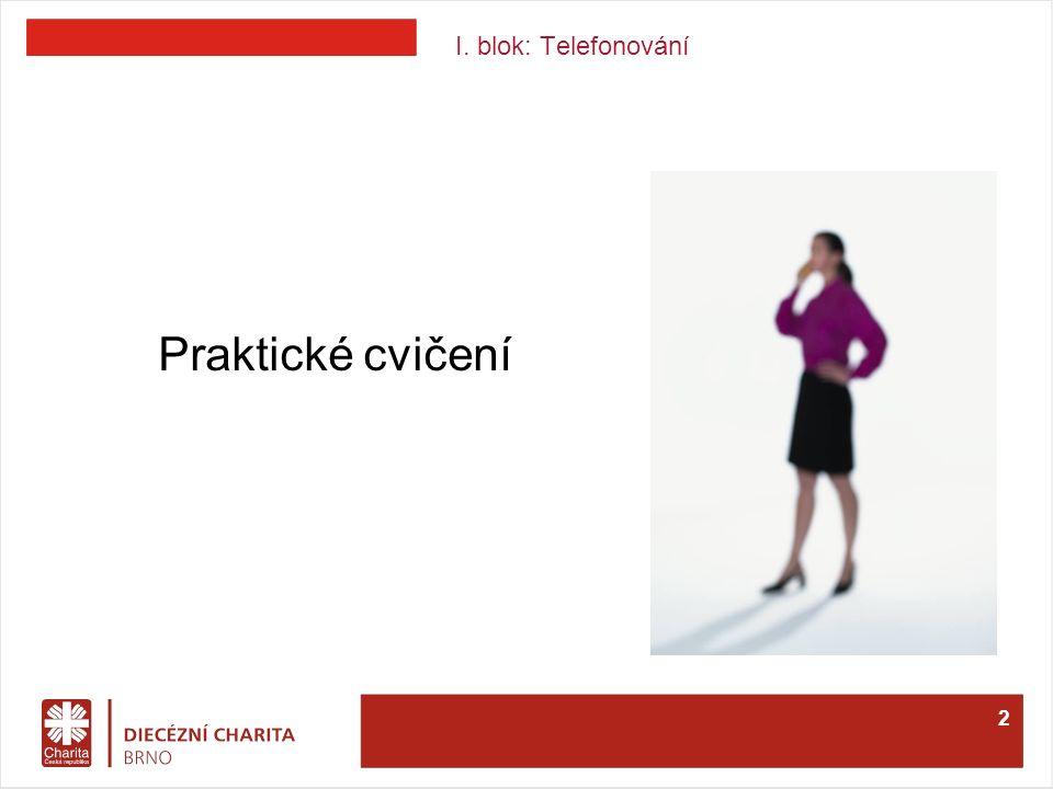I. blok: Telefonování Praktické cvičení 2