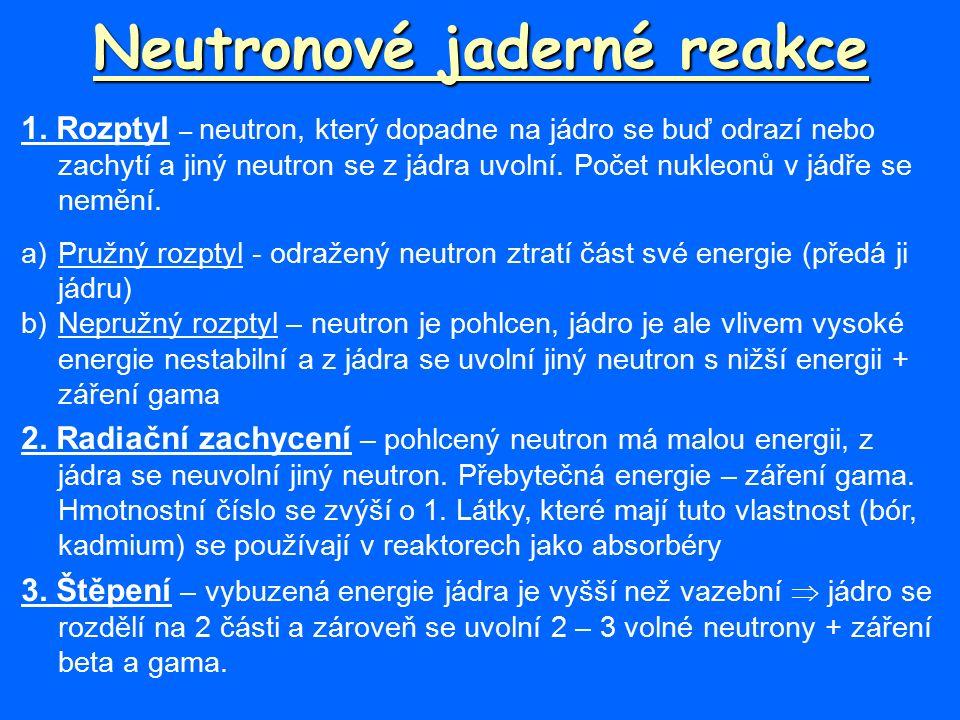 Neutronové jaderné reakce 1.