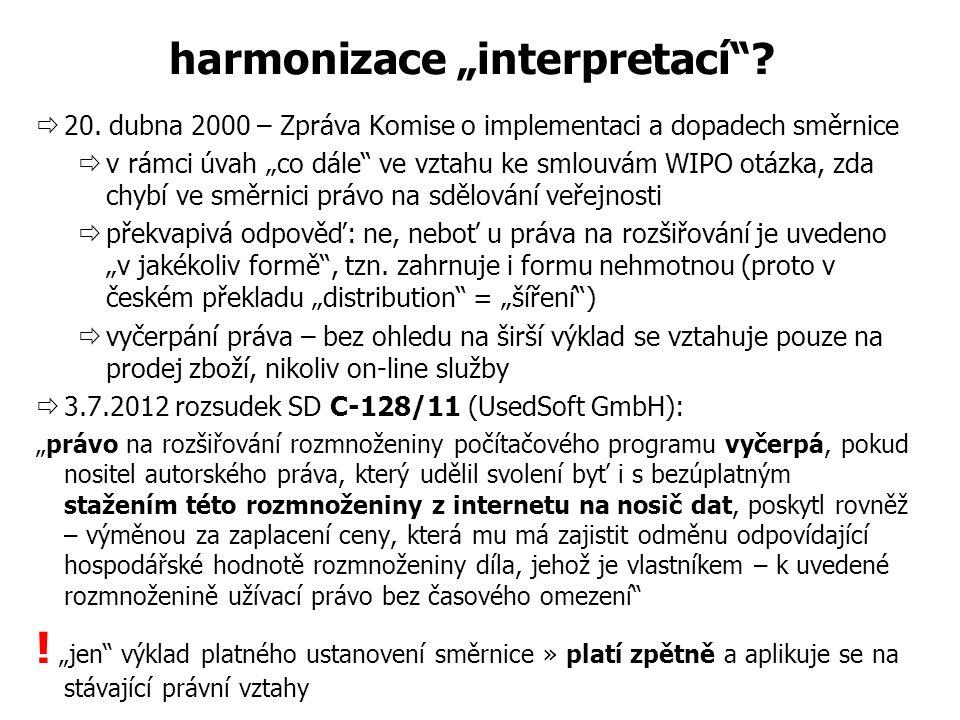 "harmonizace ""interpretací . 20."