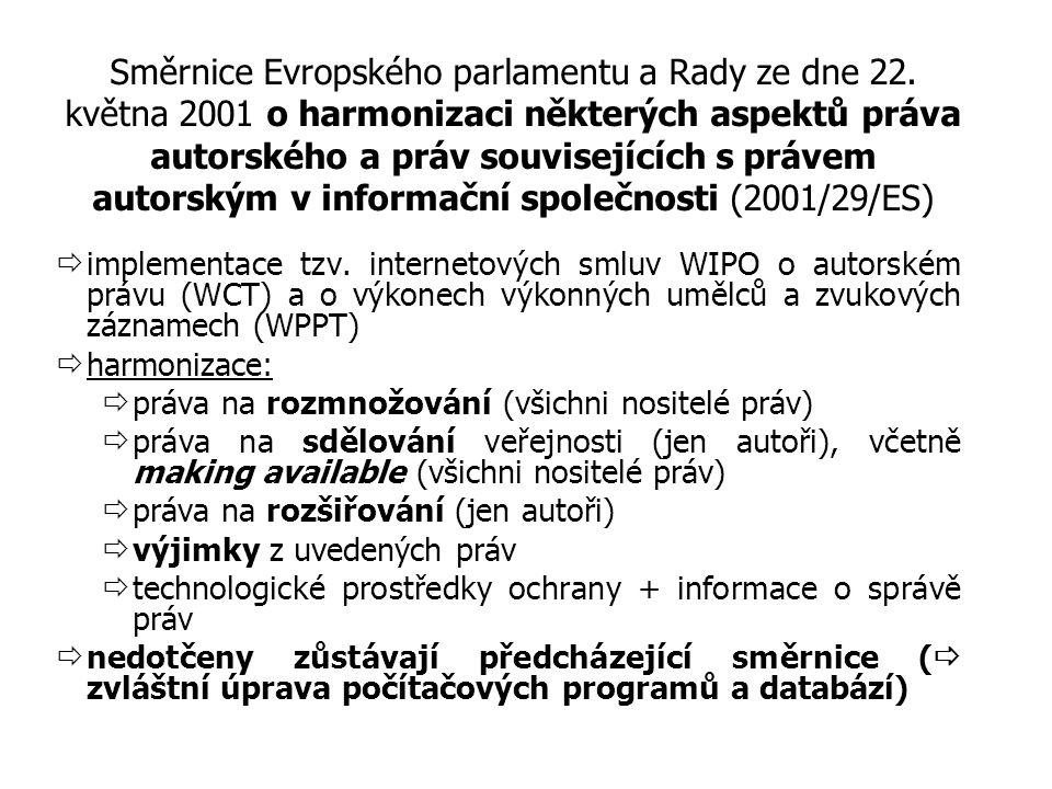 Směrnice Evropského parlamentu a Rady ze dne 22.