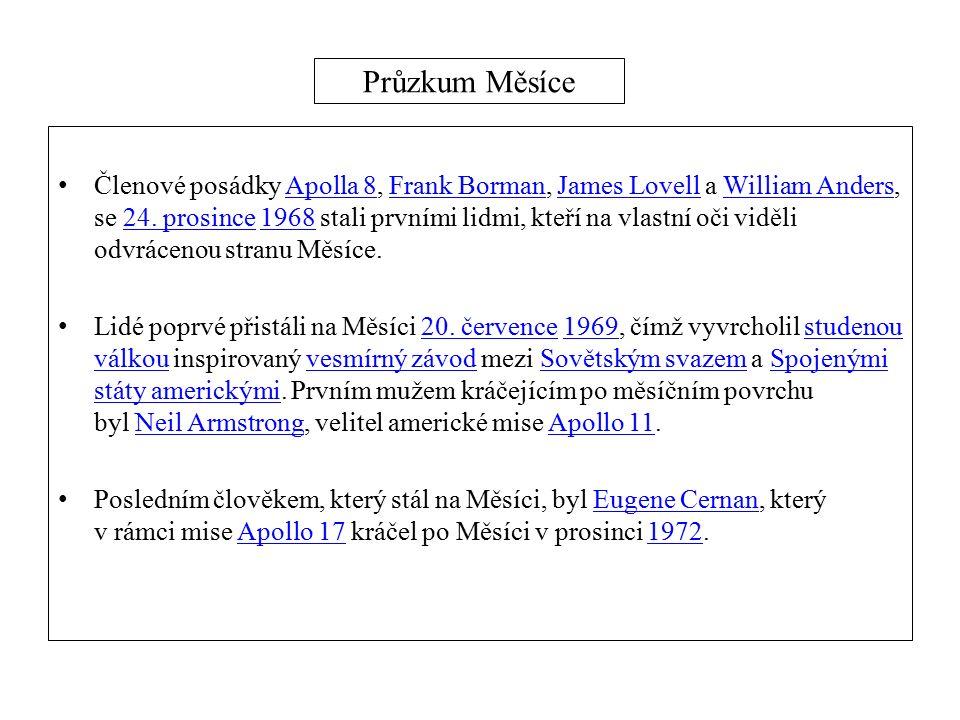 Průzkum Měsíce Členové posádky Apolla 8, Frank Borman, James Lovell a William Anders, se 24.