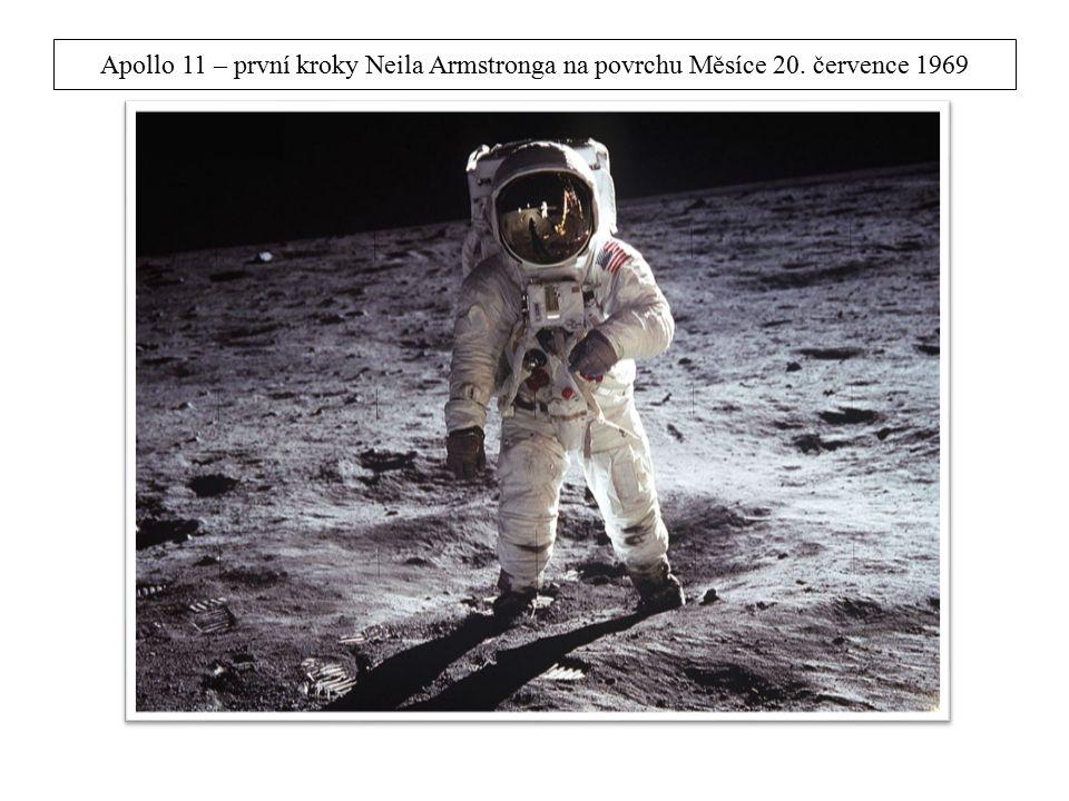 Apollo 11 – první kroky Neila Armstronga na povrchu Měsíce 20. července 1969