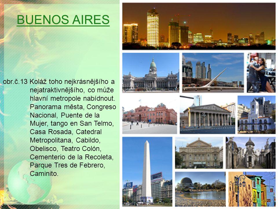 BUENOS AIRES obr.č.13 Koláž toho nejkrásnějšího a nejatraktivnějšího, co může hlavní metropole nabídnout.