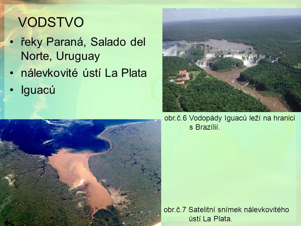 VODSTVO obr.č.6 Vodopády Iguacú leží na hranici s Brazílií.
