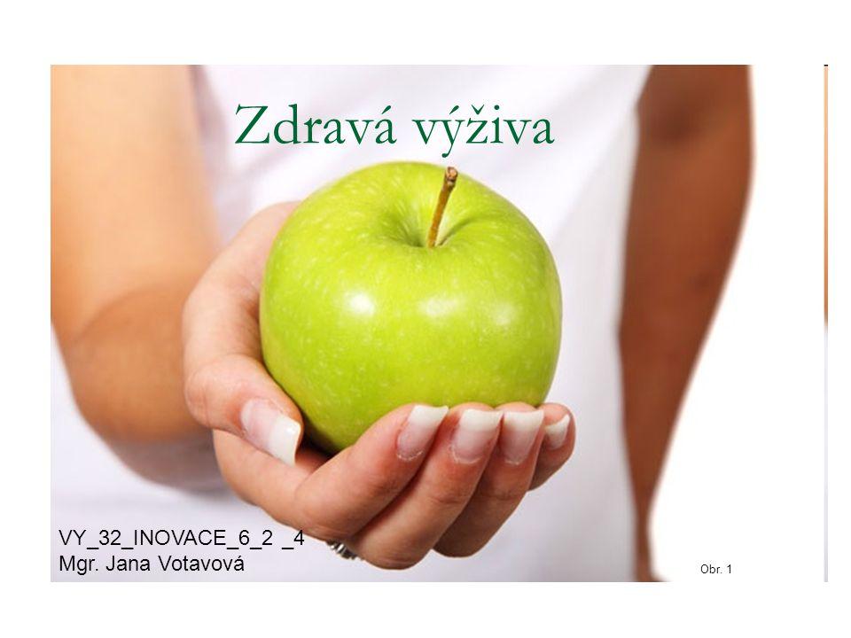 Zdravá výživa VY_32_INOVACE_6_2 _4 Mgr. Jana Votavová Obr. 1