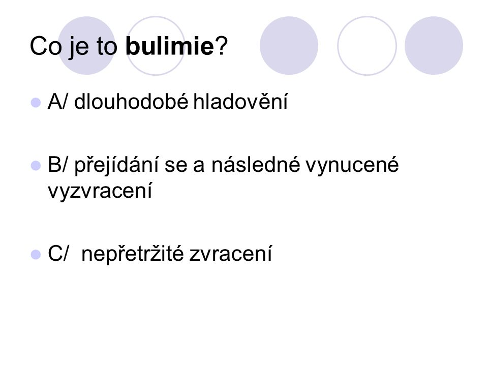 Co je to bulimie.