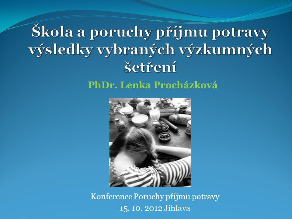 Konference Poruchy příjmu potravy 15. 10. 2012 Jihlava PhDr. Lenka Procházková