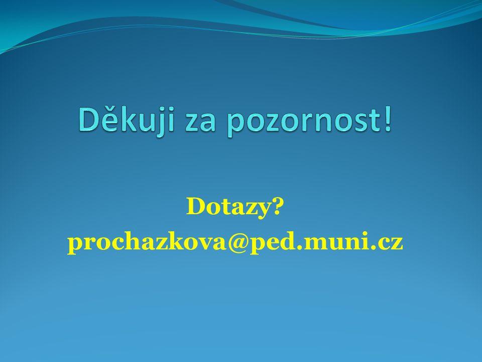 Dotazy prochazkova@ped.muni.cz