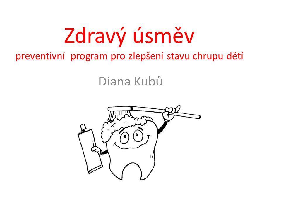 Zdravý úsměv preventivní program pro zlepšení stavu chrupu dětí Diana Kubů