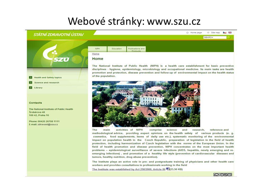 Webové stránky: www.szu.cz