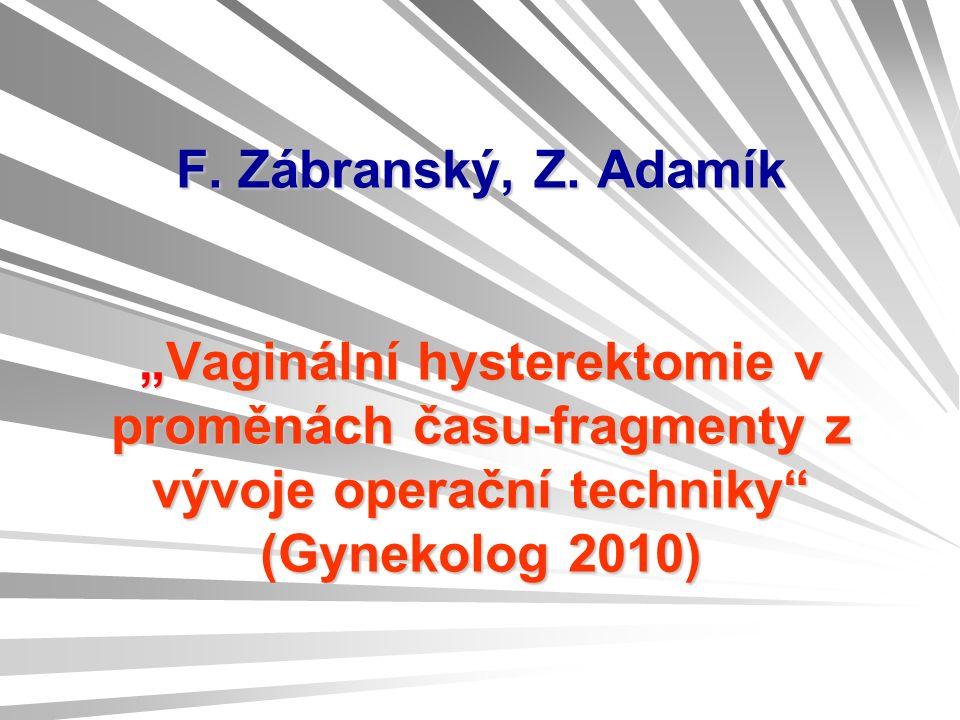 F. Zábranský, Z.