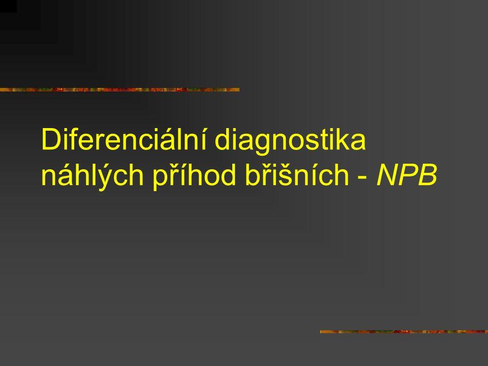 Diferenciální diagnostika náhlých příhod břišních - NPB