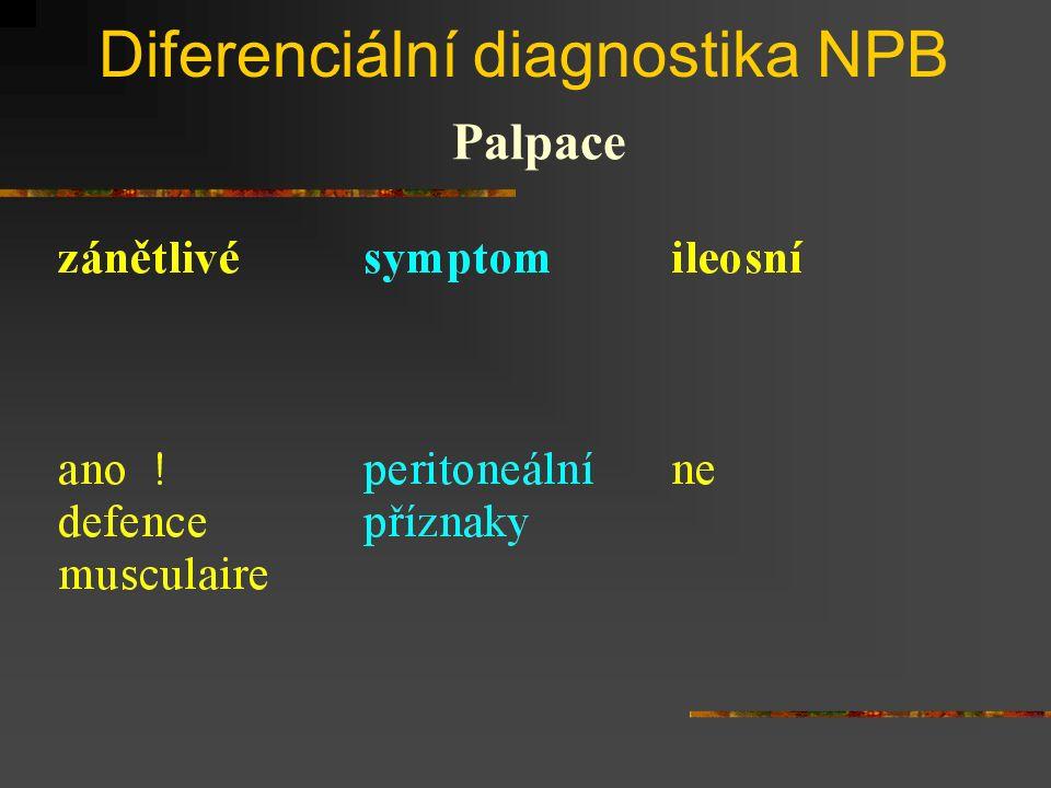 Diferenciální diagnostika NPB Palpace