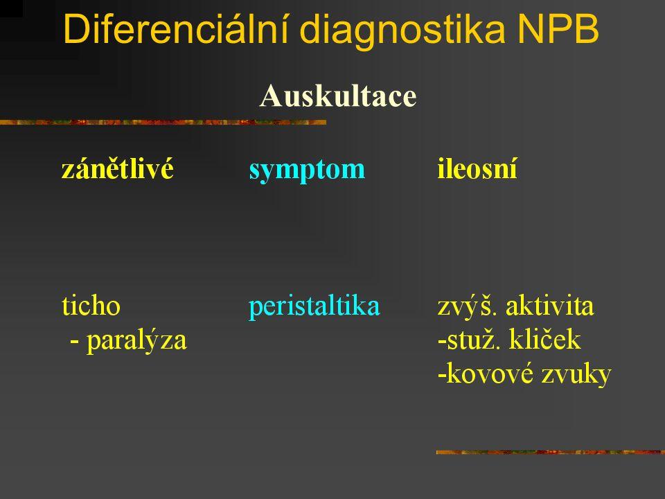 Diferenciální diagnostika NPB Auskultace